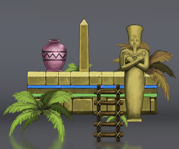 Royalty Free Game Art - Egyptian Platform Tile Set