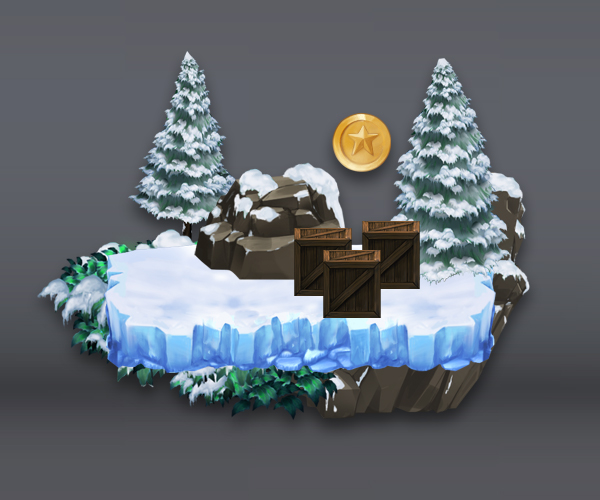 Snowy Mountains Tileset Game Art
