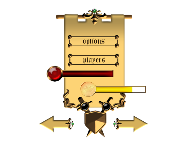GUI Medieval Style - Royalty Free Game Art