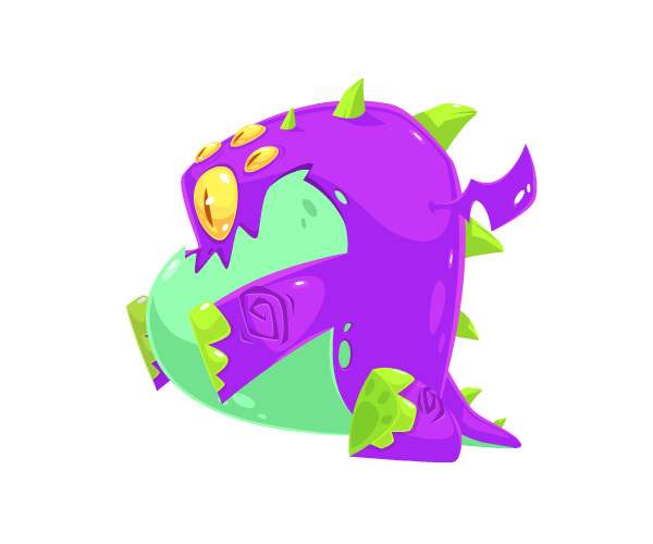 Fat Alien Dragon Royalty Free Game Art