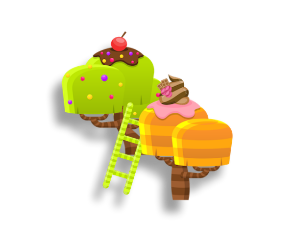 Platformer Game Art Candy Land