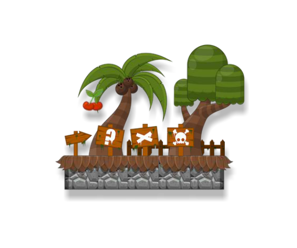Platform Jungle Game Art