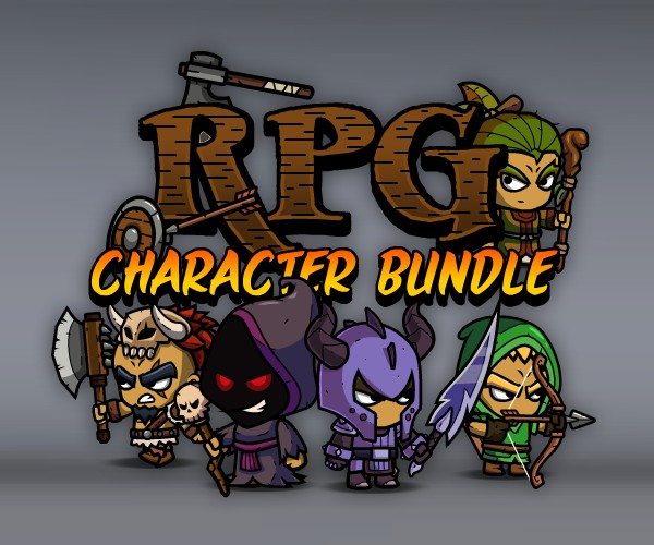 Role Playing Games Character Bundle of Royalty-Free 2D Art Assets