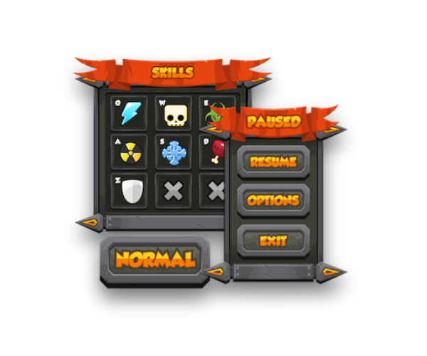 Royalty Free Game Art GUI