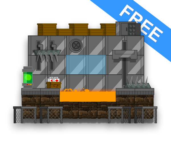 Free Game Art Lava Station