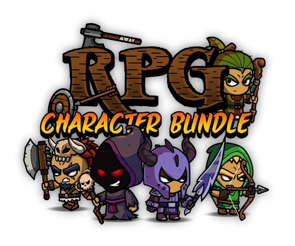 Royalty-Free 2D Game Art Character Bundle