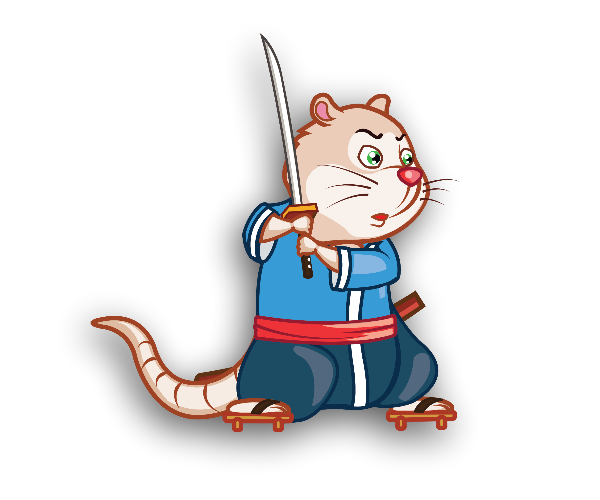 Samurai Rat Game Art Character
