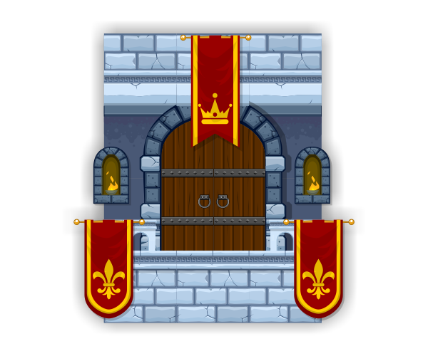 Royalty Free Game Art - Castle Platform Set