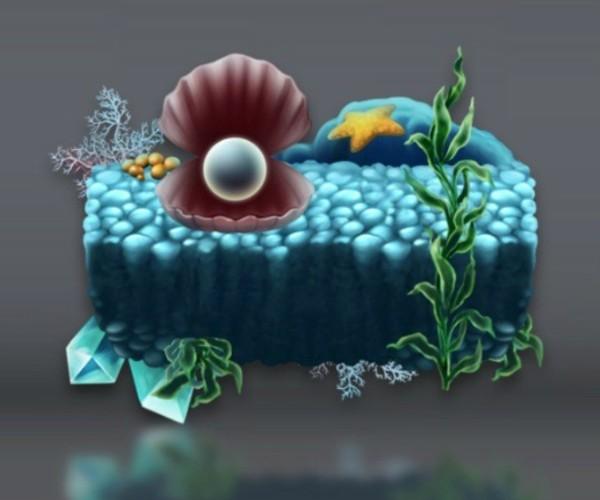 Underwater Level Platform game art