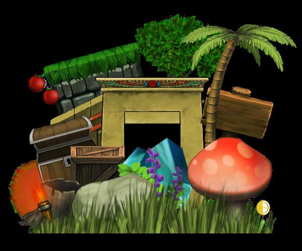 Hand Painted Platform Set Bundle of Game Art 1