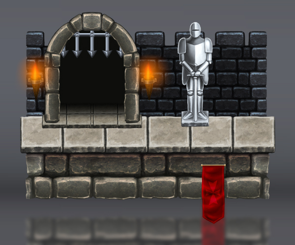 Royalty Free Platform Game Tileset: Fortified Castle