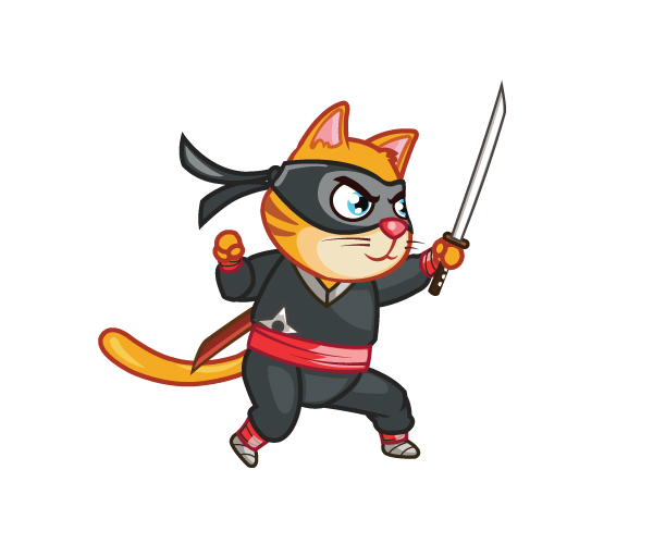 Royalty Free Game Art - Ninja Cat