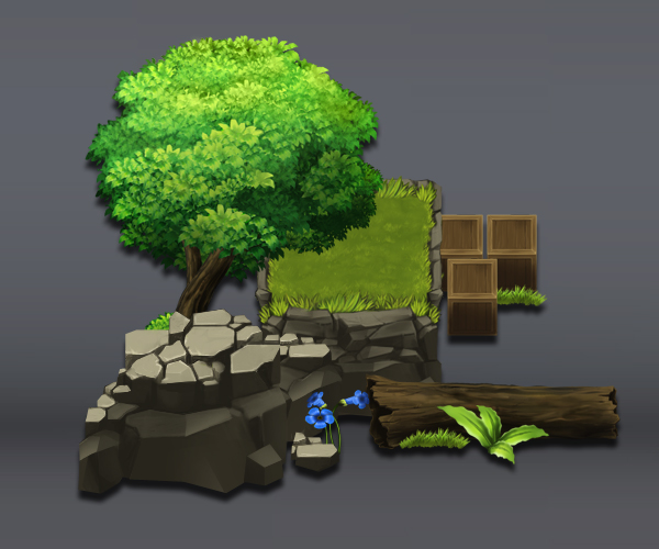 forest game tileset