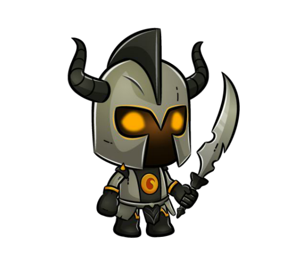 Golden Knight - Medieval Character Art - Royalty Free Game ...