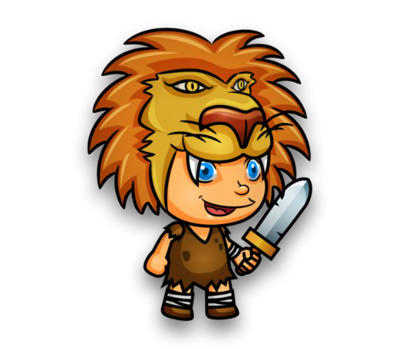 Lion Hunter Junior Game Art Character