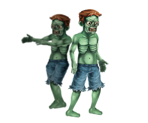 Ugly Zombie Royalty Free Game Art