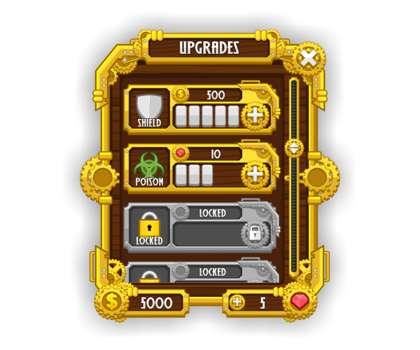 Royalty Free Game Art - GUI Steampunk Style