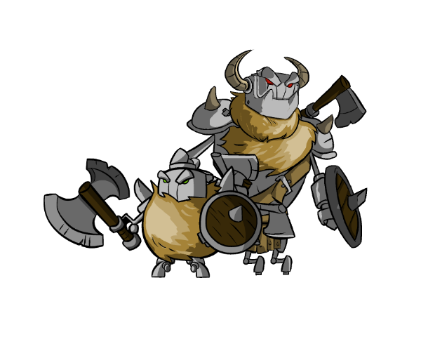 Royalty Free Game Art Characters - Viking Bots