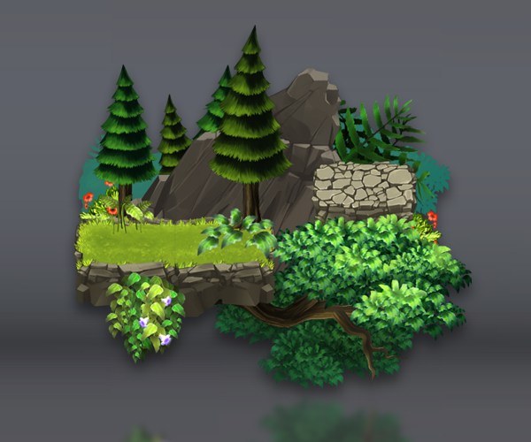 Green Valley - Platform Set - Royalty Free Game Art